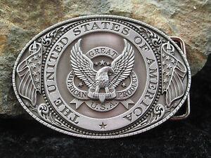 0244-Guertelschnalle-Adler-Buckle-USA-Cowboy-Western-Guertel-USA