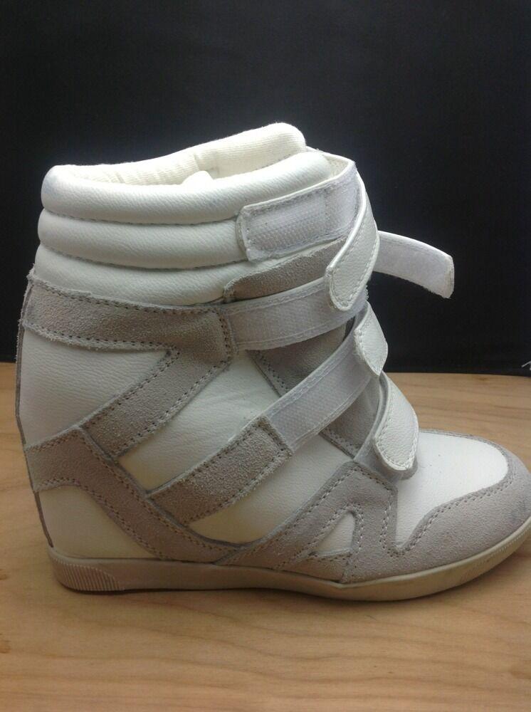 Urban Outfitters BDG Quarter Sneakers Strap Hi Top Wedge Sneakers Quarter WEISS Größe 7 d99edf