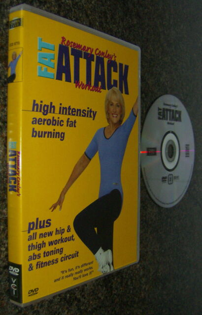 ROSEMARY CONLEY'S FAT ATTACK WORKOUT EXERCISE AEROBIC FAT BURNING HIP TONING DVD