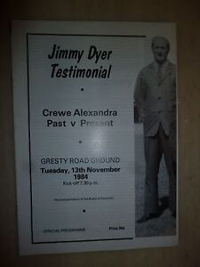 1984  JIMMY DYER TESTIMONIAL MATCH  CREW ALEXANDRA PAST v PRESENT - ilford, Essex, United Kingdom - 1984  JIMMY DYER TESTIMONIAL MATCH  CREW ALEXANDRA PAST v PRESENT - ilford, Essex, United Kingdom