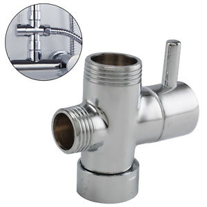 Round Shower 3 Way Diverter Valve Part Water Segregator Handheld Replacement New Ebay