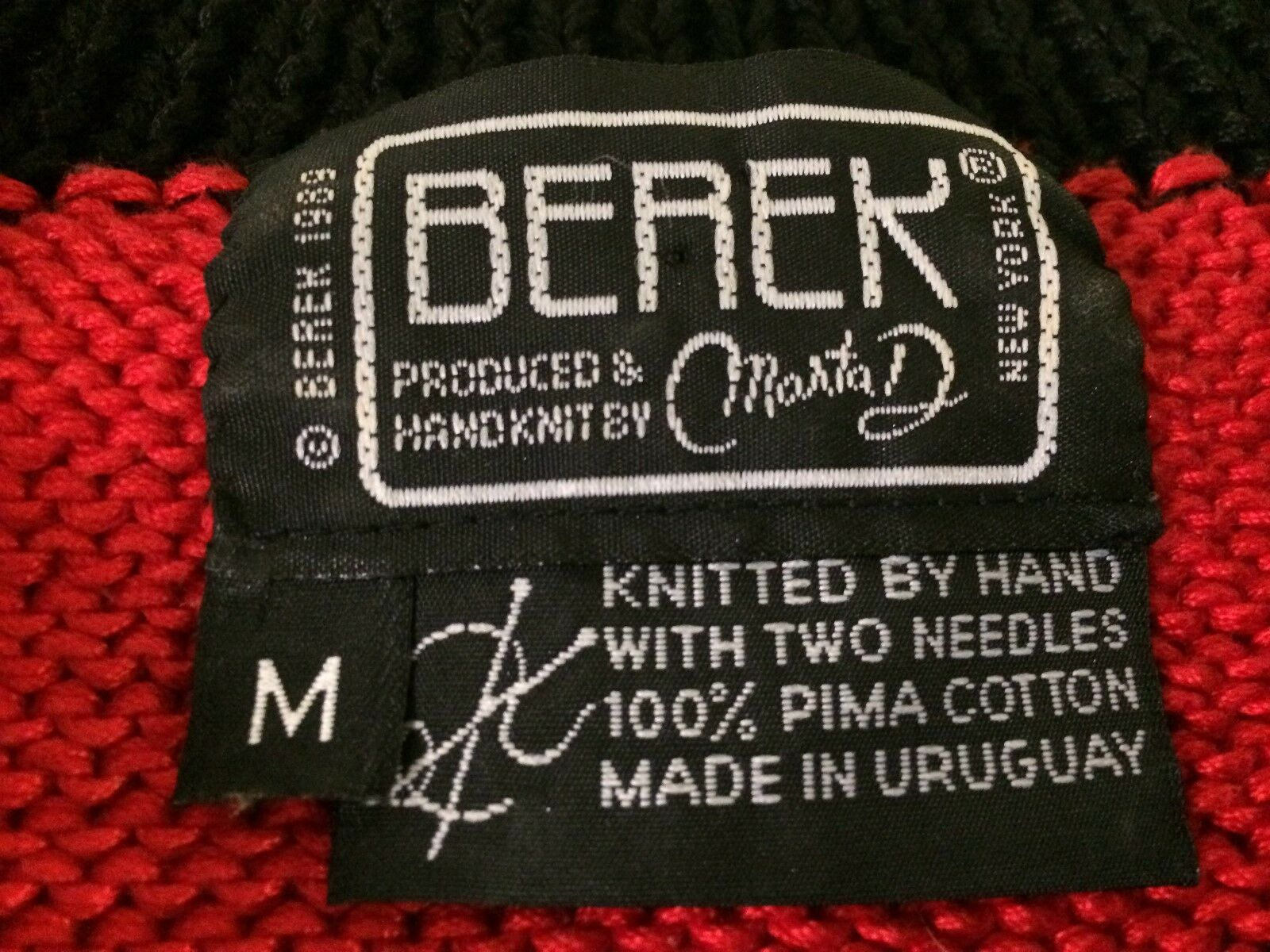 Vtg 1989 1989 1989 Berek Marta D Uruguay Designer Sweater Hand Knit Best of Show DOGS MED 81db0e