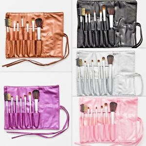 7 Pcs Professional Make up Brush Set Makeup Kit & Cosmetic bag blusher eyes brow