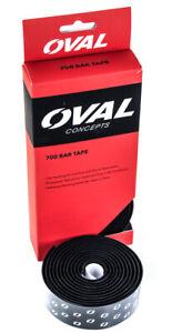 Oval-Concepts-700-Gota-Aero-Bar-manillar-Cinta-Negro-Blanco-2-metros-nuevo