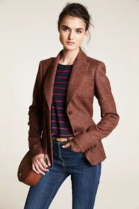 Next-James-CROWTHER-Reddish-Brown-Tweed-Jacket-With-Contrast-Elbow-Patch