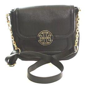 Tory-Burch-Shoulder-Cross-Body-Bag-Amanda-Classic-Black-Medium-Handbag-RRP-340