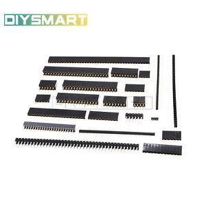 Pin-Header-Strip-1-27-2-0-2-54mm-4-50pin-Single-Double-Straight-Male-Female-AU