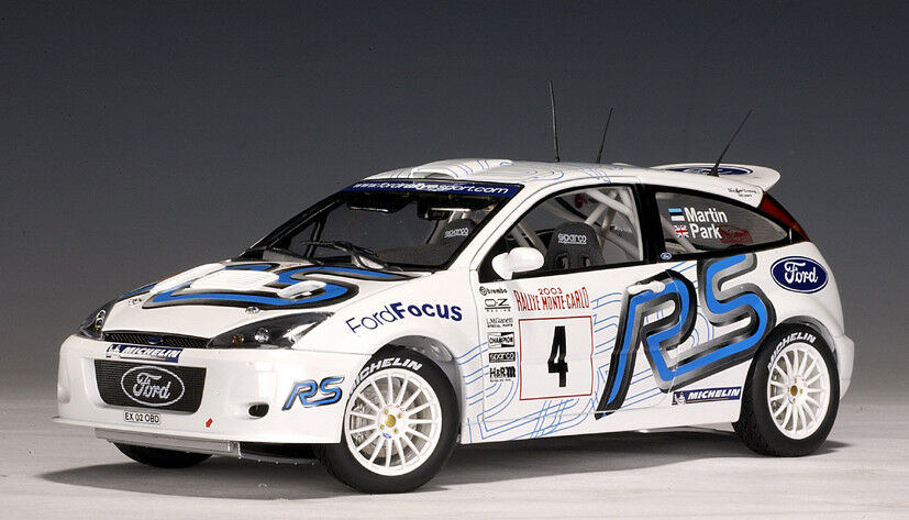 Ford Focus RS WRC 2003 Martini Park Rally of Monte Carlo 1 18 AUTOart 80311