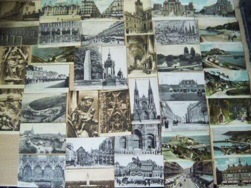 30xVintage1900's1925 postcards French Jersey Belgium some sepia reduced 30