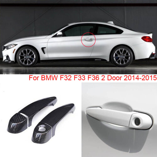 Carbon Fiber Exterior Door Handle w//o Smart Key Cover Trims For BMW F32 F33 F36