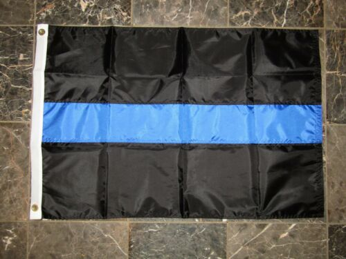 2x3 Embroidered Police Thin Blue Line 210D Nylon Flag 2/'x3/' 2 clips