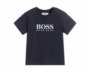 9fe6637b1b5a Hugo Boss Baby s J05P07 849 Cotton T-Shirt Blue Crew Neck Top