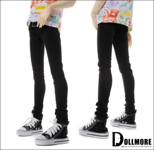 Black Dollmore 1//3 BJD SD Buckle Skinny Pants
