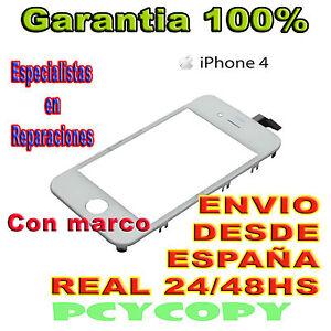 PANTALLA TACTIL PARA IPHONE 4 4G MARCO DIGITALIZADOR CRISTAL TOUCH SCREEN  BLANC