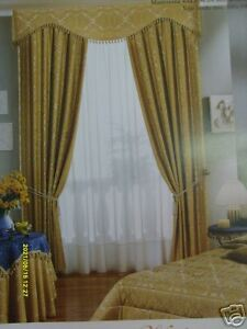 Tende Con Mantovana E Calate.Tenda Con Mantovana E Calate Raso Di Cotone Modello Chiara Ebay