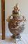 "thumbnail 1 - Antique 20"" tall Japanese Meiji Period Satsuma Warrior Foo-Dogs Lions Vase/Urn"