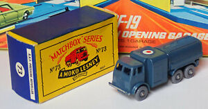 Matchbox 73a Leyland RAF 10 tonelada camión tanque Menta en Caja Muy Bueno