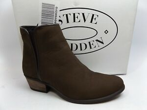 126ae533d4e Steve Madden NYTROO Ankle Boots Women s SZ 6.5 M BROWN LEATHER D8796 ...