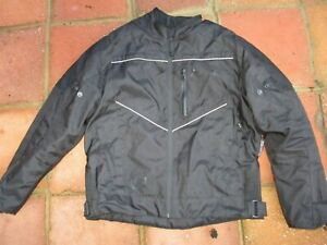 MENS AKITO ADVENTURE SHOK BLOK SIZE XL BLACK POLYESTER TEXTILE MOTORCYCLE JACKET