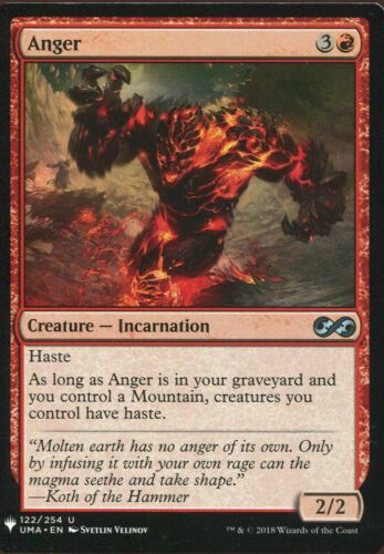 Magic The Gathering MTG Mystery Pack Card Anger