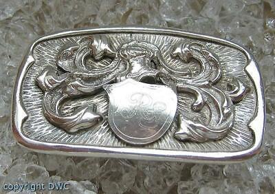 Fibbia Cintura Fibbia Cinturone Fibbia Argento Fibbia Argento 800 Con Stemma.-mostra Il Titolo Originale Ulteriori Sorprese