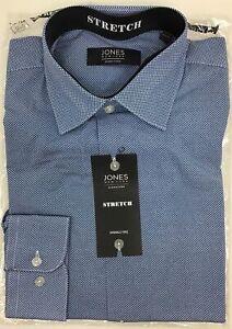 Jones New York  Mens Long Sleeve Dress Shirt  M 15-15 1//2 32-33