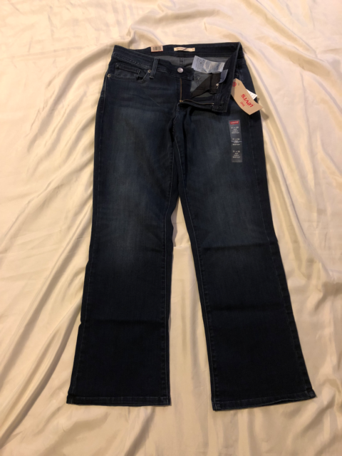 0cee72193e3 Fit 10 Med Levi's 529 Curvy Boot Cut Stonewashed Denim Blue Jeans Tag 31x30