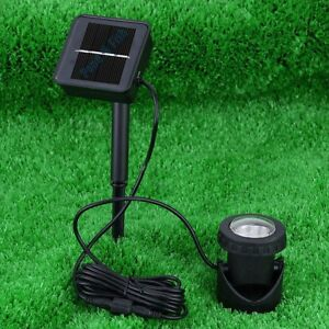 Solar Powered LED Pond Spotlight Lamp Submersible Outdoor Pool Garden