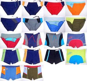 Vintage Boys swim swimming trunks swimwear Blue Green Age 13 14 15 16 NEW