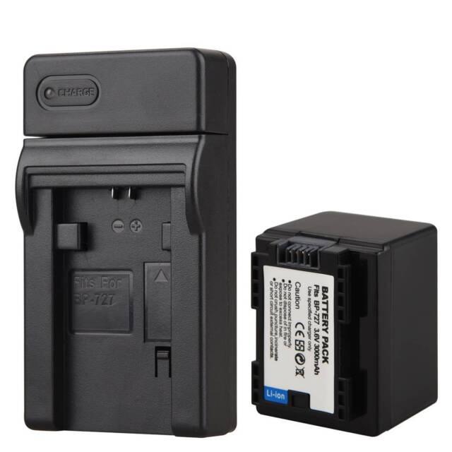 BP-727 Akku + Ladegerät für Canon VIXIA HF M56 R38 R300 BP-709 BP-718 DE