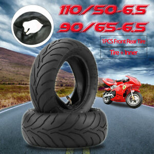 Mini-Pocket-Bike-Front-Rear-Tire-110-50-6-5-90-65-6-5-With-Inner-Tube-47cc-49cc