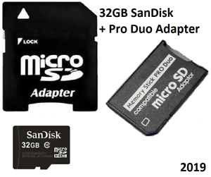 32GB (32GB x 1) Memory Stick  Pro Duo Card  For Sony PSP 1000 2000 & 3000 Series