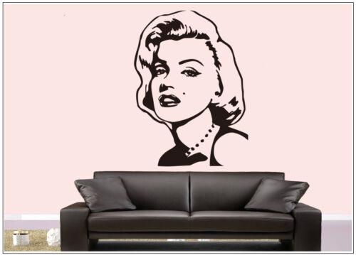 Wall Tattoo Wall Sticker Wall Sticker Photo Portrait Marilyn Monroe wph18