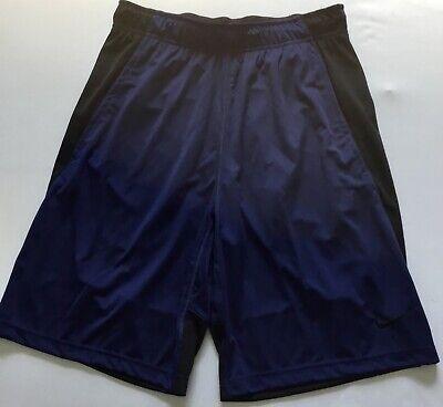 "Nike Men/'s Size XL 9/"" Dri-fit Navy Blue Training Shorts 842267-429 NWT"
