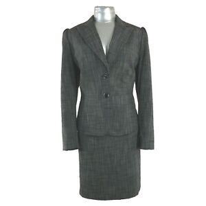 72a1296da0 Antonio Melani 12 14 Large Suit Pencil Skirt Blazer Jacket Black ...