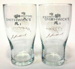 Pint Glasses ~ New /& F//S Smithwick/'s Premium Irish Ale 16 Ounce Glass Set Of 2