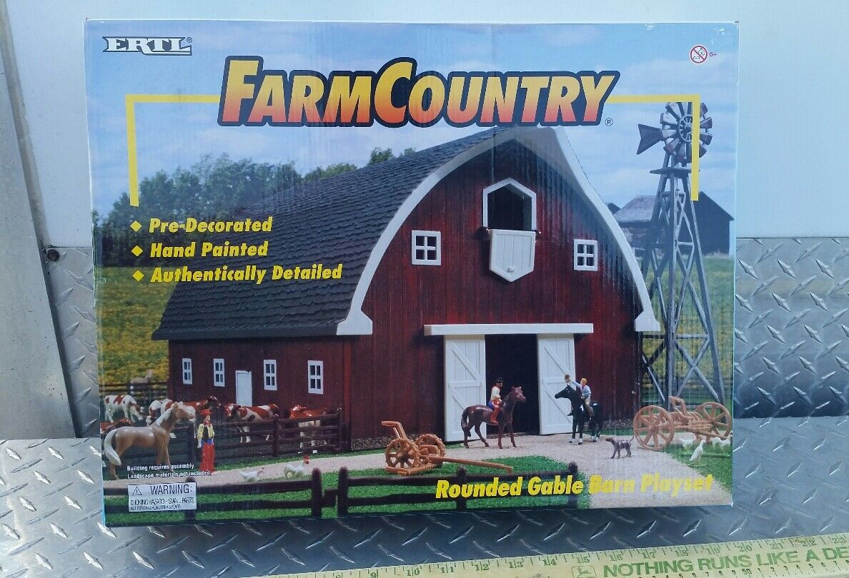 Ertl Farm Country Toy Building weathered gable barn barn barn playSet s scale1 64 complete 10473a