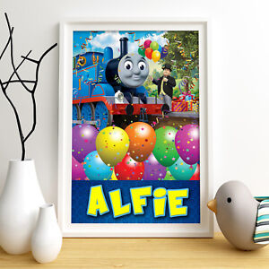 THOMAS AND FRIENDS Personalised Poster A4 Print Wall Art Fast Delivery ✔