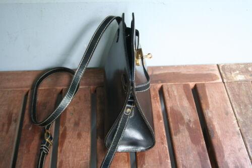 Klein Bally Schwarz Elegant Leder neuwertig Handtasche wRpUI7