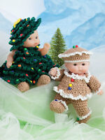 Cute As Pie Baby Doll Clothes To Crochet For 5 Itty Bitty Dolls -