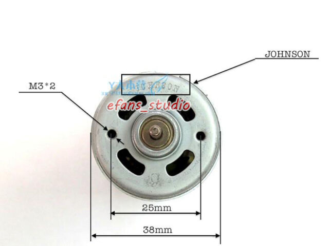 JOHNSON RS-570 DC 6V 9.6V 12V 28500RPM High Speed DC Motor DIY Drill Screwdriver