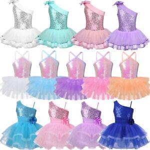 Toddler-Girls-Tutu-Ballet-Leotard-Dress-Ballerina-Dancewear-Skate-Dance-Costume