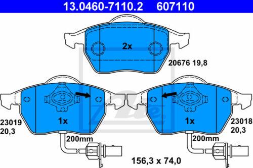 Beläge Vorderachse VA 3R2 ATE Bremsscheiben für SEAT EXEO