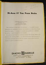 Di-Acro 17 Ton Press Brake  Model 14-48-2, Operation and Parts Manual
