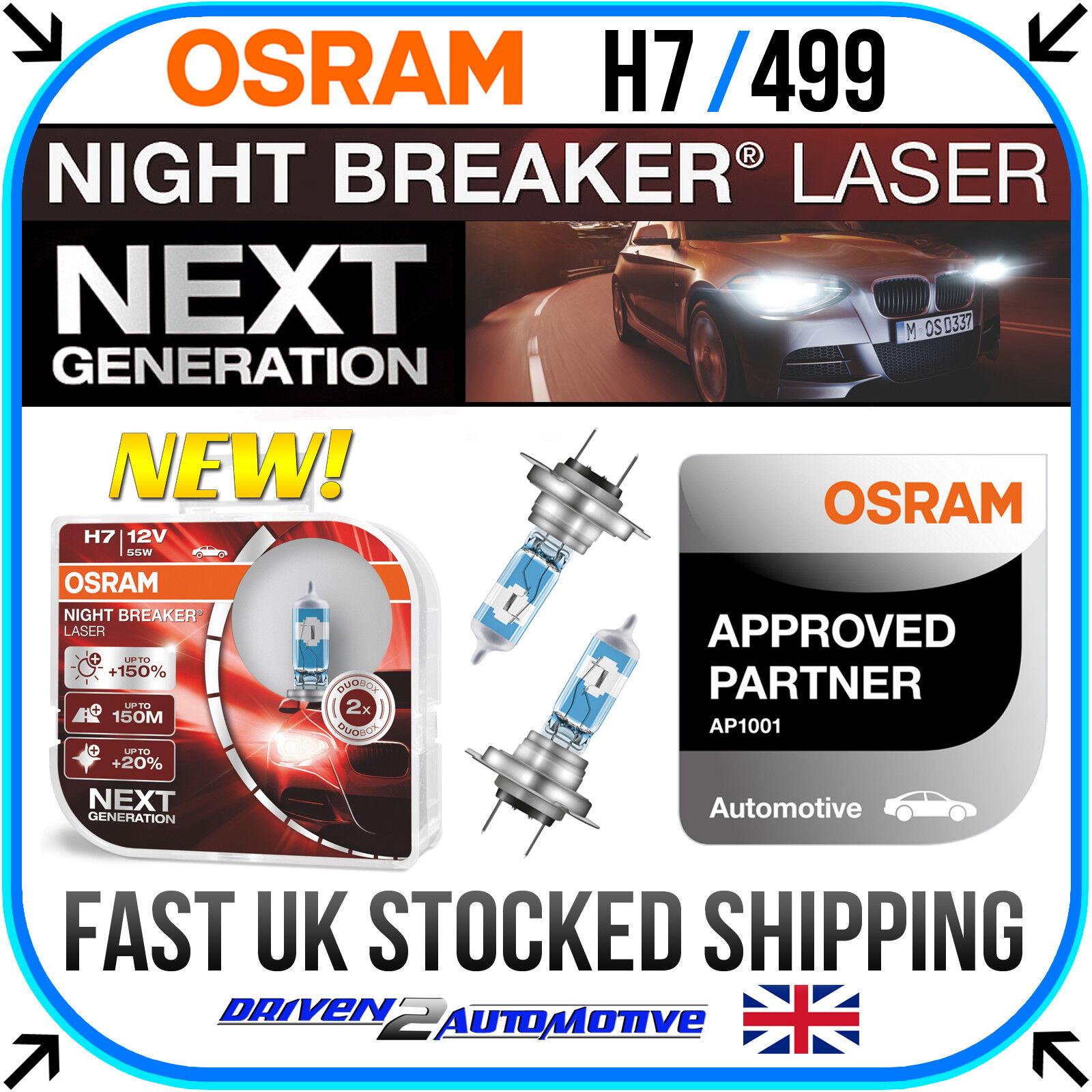 Car Parts - OSRAM Night Breaker LASER NEXT GEN H7 Car Headlight Bulbs 55W +150% Twin Duo