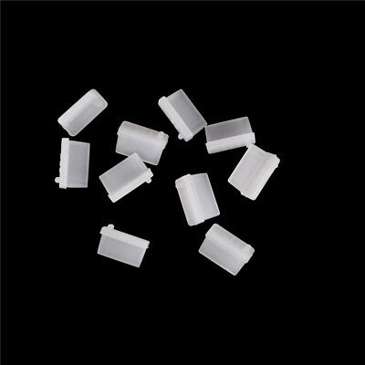 10pcs Clear Rubber A Type Female USB Anti Dust Protector Plugs Stopper Cover z~