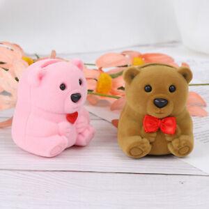 Velvet-Bear-Necklace-Ring-Earrings-Present-Gift-Boxes-Jewelry-Display-Case-V