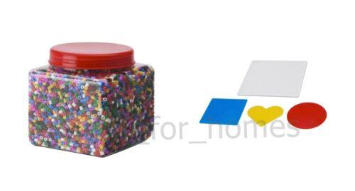 Ikea pyssla cuentas Box /& grano forma por separado o como un conjunto-Varios Colores Nuevo