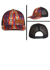 da55f2175 Details about Rock & Roll Denim Juniors Aztec Print Snapback Trucker Ball  Cap CGC4703