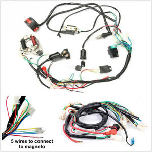 One Set Electric ATV CDI Wire Harness Stator Wiring Kit For 50cc 70cc 90cc  110cc | eBayeBay
